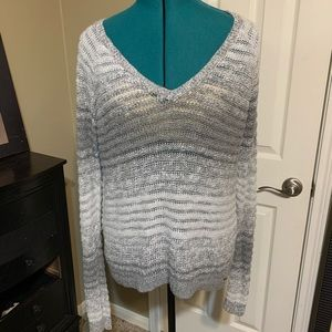 Silver , white and grey oversized sweater.